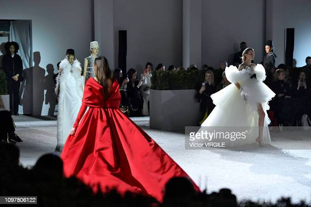 A model walks the runway during the Giambattista Valli Haute Couture Spring Summer 2019 fashion show as part of Paris Fashion Week on January 21 2019...