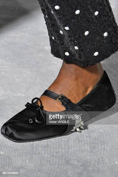 A model walks the runway during the Giambattista Valli Ready to Wear Spring/Summer 2018 fashion show as part of the Paris Fashion Week Womenswear...