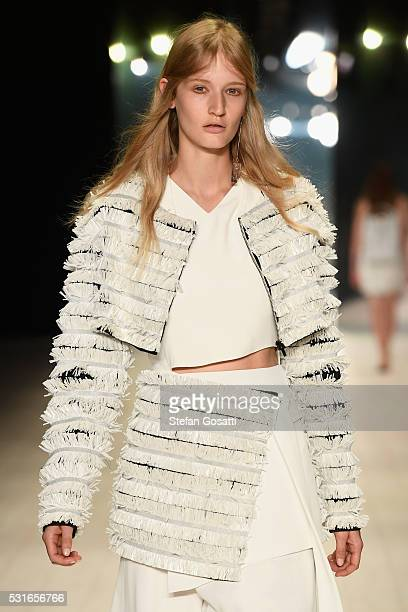 A model walks the runway during the Ginger Smart show at MercedesBenz Fashion Week Resort 17 Collections at Carriageworks on May 16 2016 in Sydney...