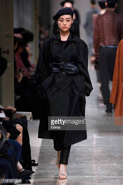 A model walks the runway during the Giorgio Armani Cruise 2020 Collection at the Tokyo National Museum on May 24 2019 in Tokyo Japan