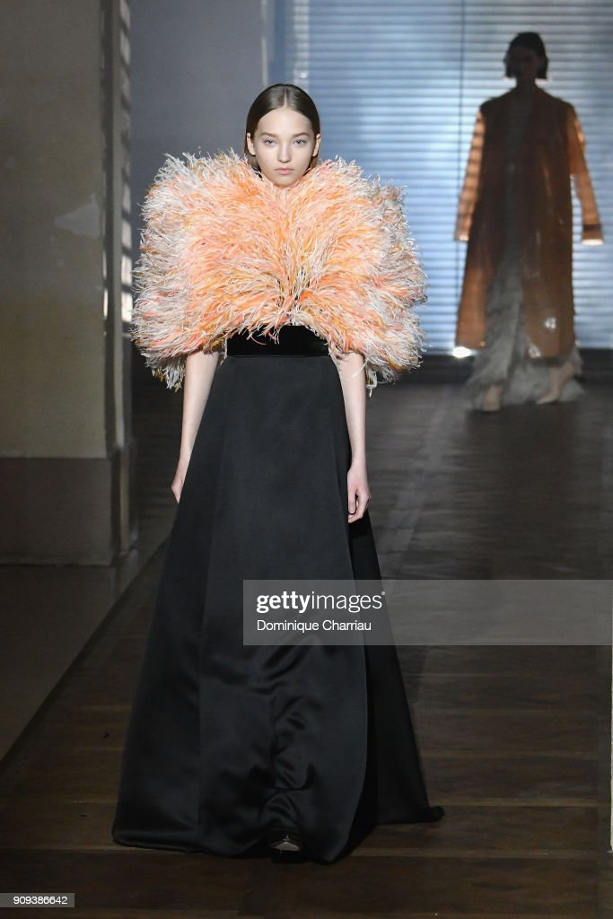 A model walks the runway during the Givenchy Haute Couture Spring Summer 2018 show as part of Paris Fashion Week on January 23, 2018 in Paris, France.