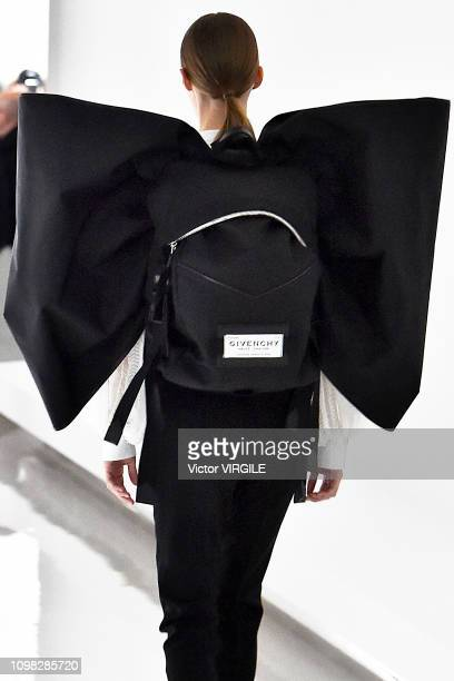 A model walks the runway during the Givenchy Haute Couture Spring Summer 2019 fashion show as part of Paris Fashion Week on January 22 2019 in Paris...