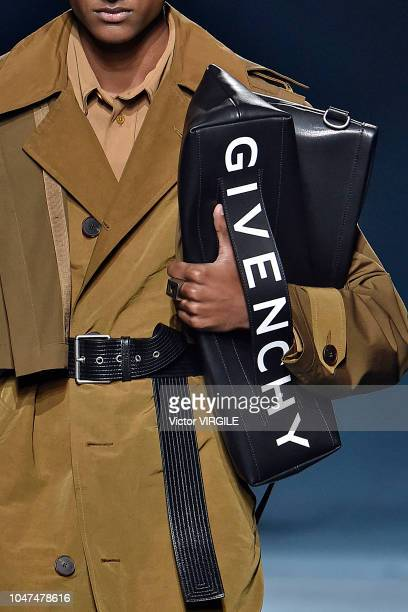 Model walks the runway during the Givenchy Ready to Wear fashion show as part of the Paris Fashion Week Womenswear Spring/Summer 2019 on September...