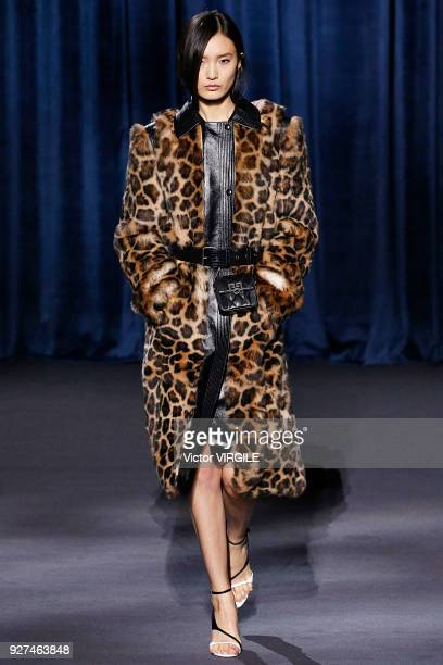 A model walks the runway during the Givenchy Ready to Wear fashion show as part of the Paris Fashion Week Womenswear Fall/Winter 2018/2019 on March 4...