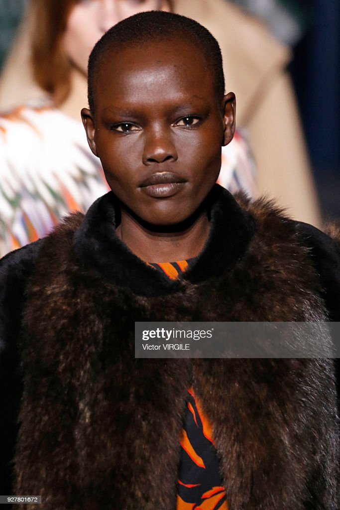 A model walks the runway during the Givenchy Ready to Wear fashion show as part of the Paris Fashion Week Womenswear Fall/Winter 2018/2019 on March 4, 2018 in Paris, France.