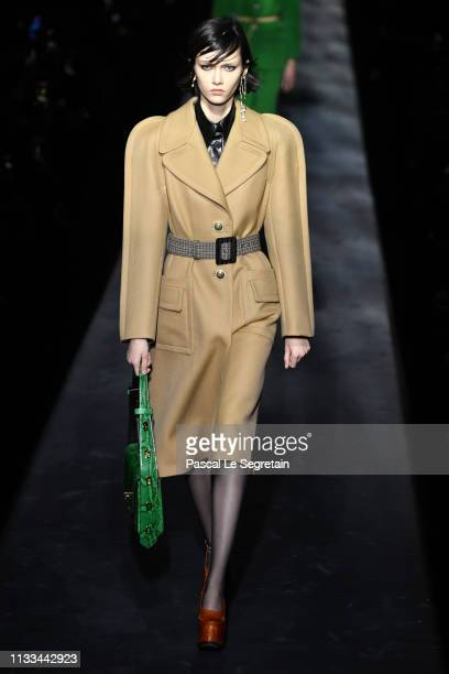 Model walks the runway during the Givenchy show as part of the Paris Fashion Week Womenswear Fall/Winter 2019/2020 on March 03, 2019 in Paris, France.