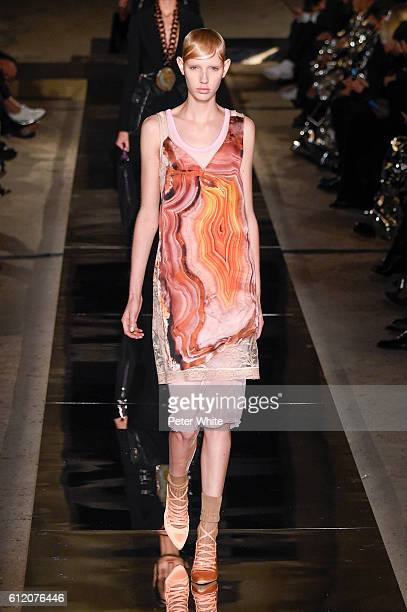 Model walks the runway during the Givenchy show as part of the Paris Fashion Week Womenswear Spring/Summer 2017 on October 2, 2016 in Paris, France.