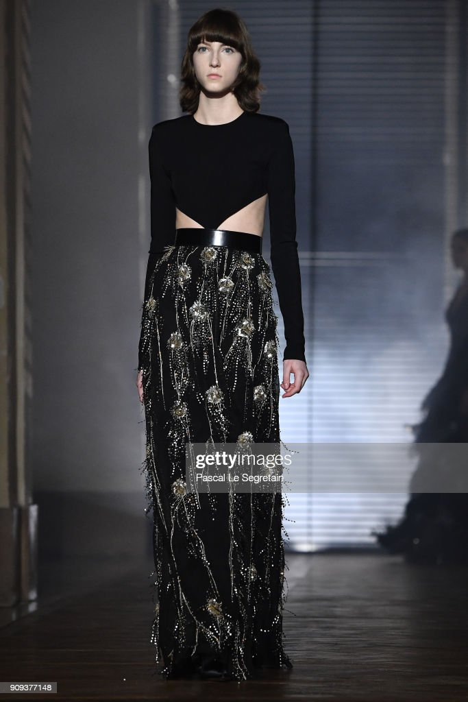 model-walks-the-runway-during-the-givenchy-spring-summer-2018-show-as-picture-id909377148