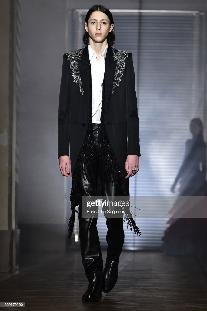 model-walks-the-runway-during-the-givenchy-spring-summer-2018-show-as-picture-id909379290