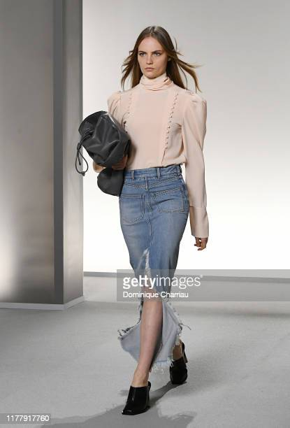 A model walks the runway during the Givenchy Womenswear Spring/Summer 2020 show as part of Paris Fashion Week on September 29 2019 in Paris France