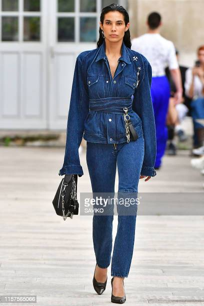 A model walks the runway during the GMBH Menswear Spring Summer 2020 fashion show as part of Paris Fashion Week on June 21 2019 in Paris France