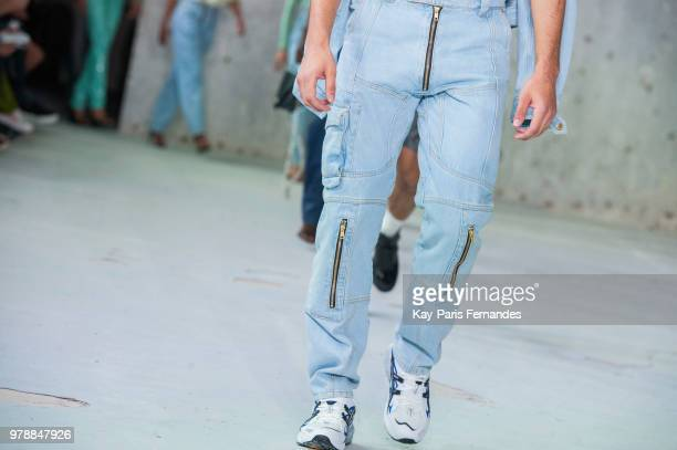 A model walks the runway during the GMBH Menswear Spring/Summer 2019 show as part of Paris Fashion Week on June 19 2018 in Paris France