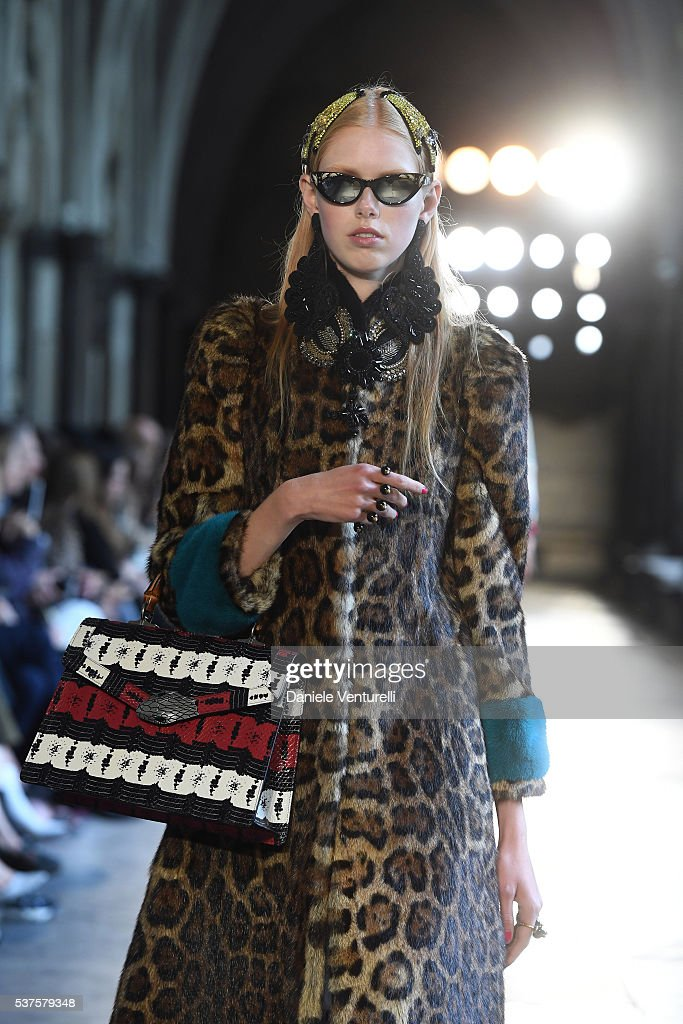 49767159652 A model walks the runway during the Gucci Cruise 2017 fashion show ...