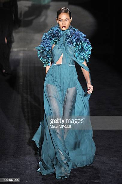 A model walks the runway during the Gucci Ready to Wear Fall/Winter 2011 show as part of the Milan Fashion Week on February 23 2011 in Milan Italy