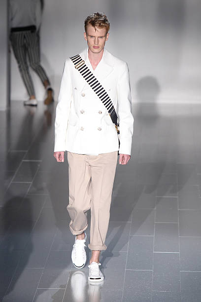 43f217d3271 ... Menswear Spring Summer 201510 pictures. Embed. EmbedLicence. A model  walks the runway during the Gucci show as a part of Milan Fashion Week