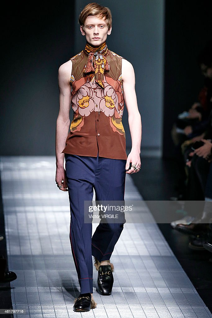 Gucci - Runway - Milan Menswear Fashion Week Fall Winter 2015/2016 : News Photo