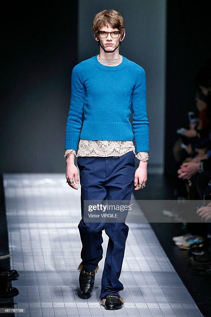 Gucci - Runway - Milan Menswear Fashion Week Fall Winter 2015/2016 : News Photo