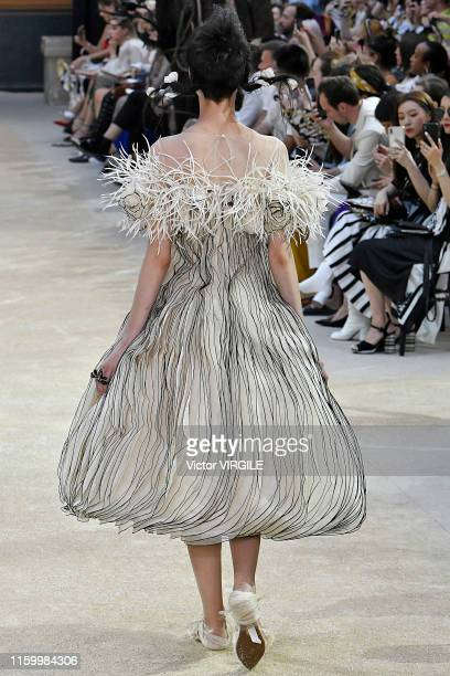 Model walks the runway during the Guo Pei Haute Couture Fall/Winter 2019 2020 show at 'Ecole des Beaux Arts' as part of Paris Fashion Week on July...