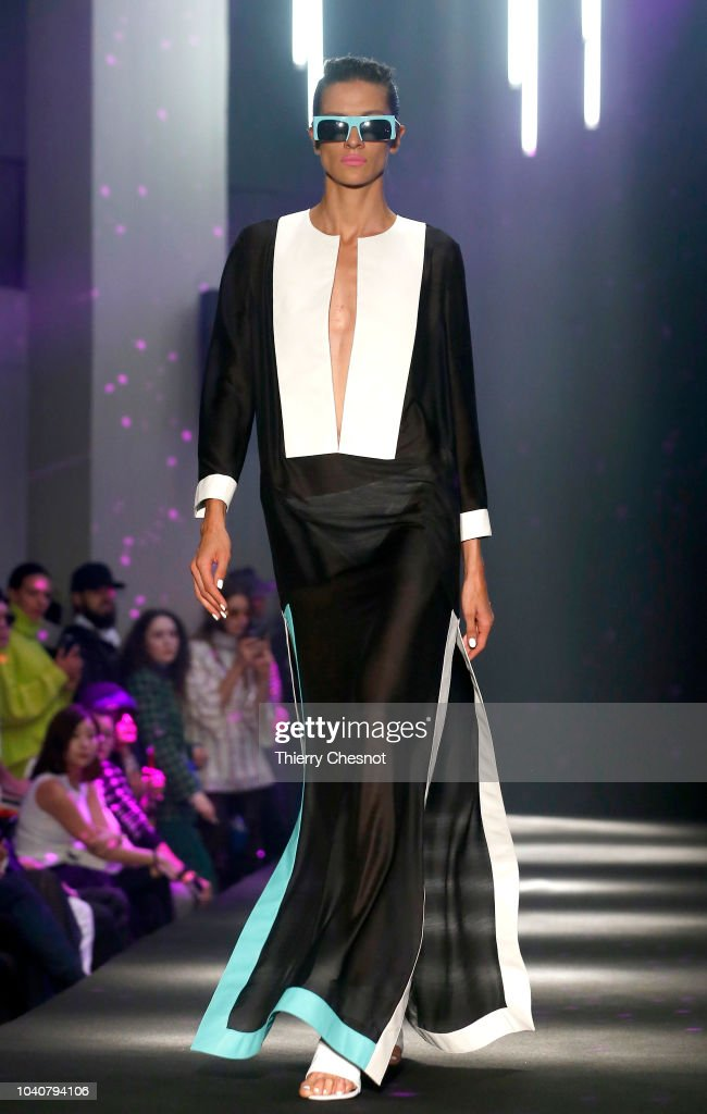 model-walks-the-runway-during-the-guy-laroche-show-as-part-of-the-picture-id1040794106