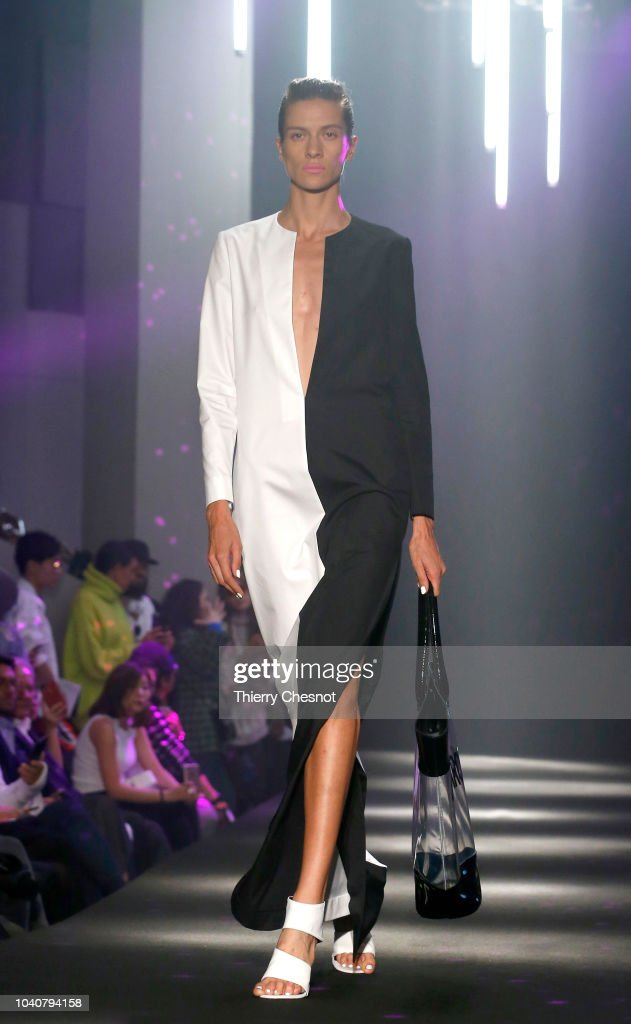 model-walks-the-runway-during-the-guy-laroche-show-as-part-of-the-picture-id1040794158