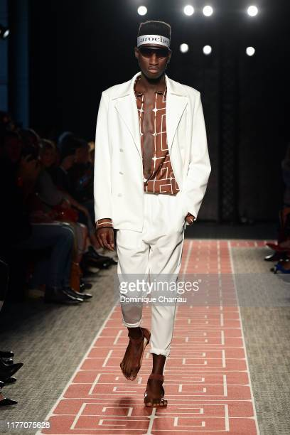 A model walks the runway during the Guy Laroche Womenswear Spring/Summer 2020 show as part of Paris Fashion Week on September 25 2019 in Paris France