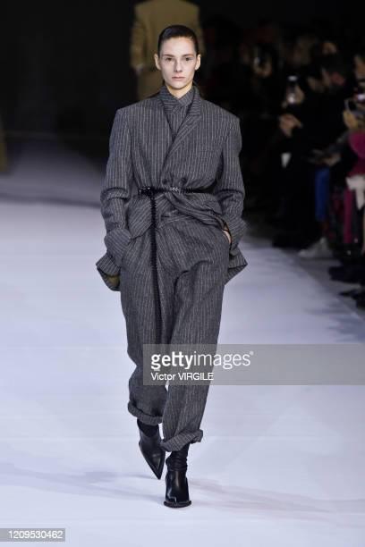 A model walks the runway during the Haider Ackermann Ready to Wear fashion show as part of the Paris Fashion Week Womenswear Fall/Winter 20202021 on...