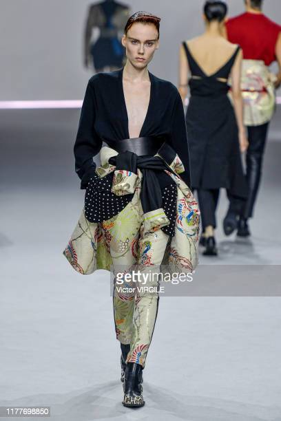 A model walks the runway during the Haider Ackermann Ready to Wear Spring/Summer 2020 fashion show as part of Paris Fashion Week on September 28 2019...