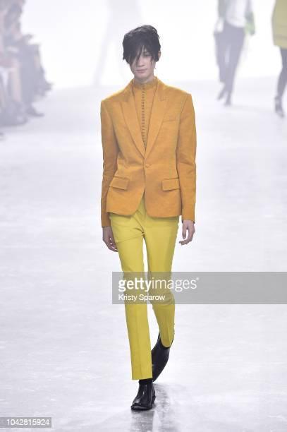 A model walks the runway during the Haider Ackermann show as part of Paris Fashion Week Womenswear Spring/Summer 2019 on September 29 2018 in Paris...