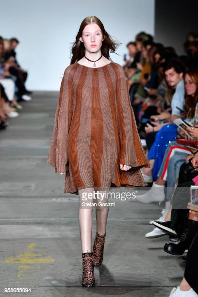 A model walks the runway during the Hansen Gretel show at MercedesBenz Fashion Week Resort 19 Collections at Carriageworks on May 15 2018 in Sydney...