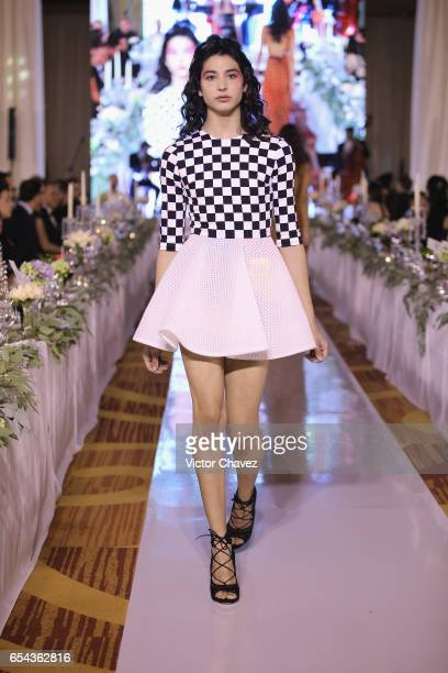 Model walks the runway during the Happy Hearts Foundation gala at Sheraton Maria Isabel Hotel & Towers on March 16, 2017 in Mexico City, Mexico.