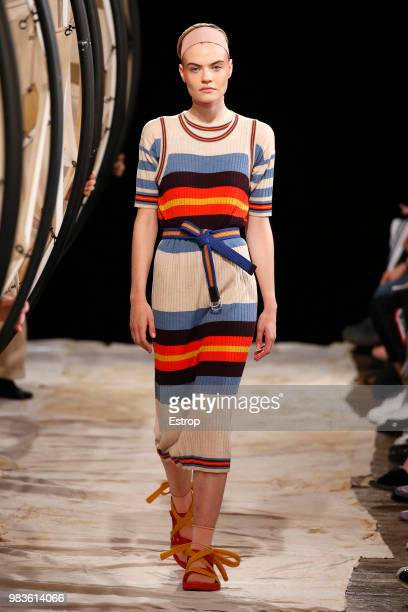 A model walks the runway during the Henrik Vibskov Menswear Spring/Summer 2019 show as part of Paris Fashion Week on June 23 2018 in Paris France