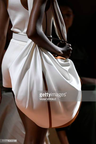 A model walks the runway during the Hermes Ready to Wear Spring/Summer 2020 fashion show as part of Paris Fashion Week on September 28 2019 in Paris...