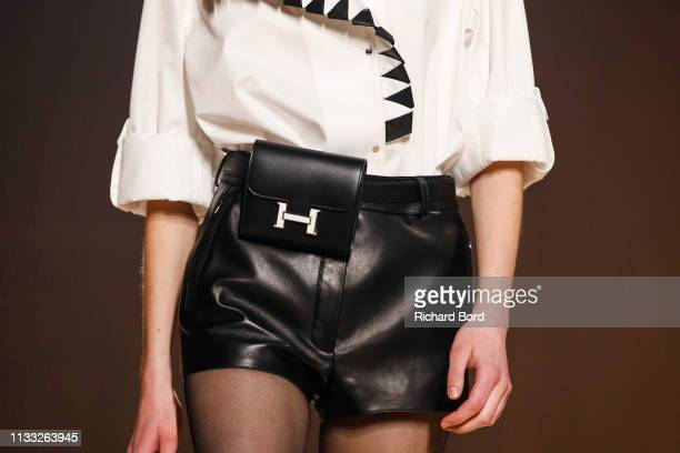 A model walks the runway during the Hermes show as part of the Paris Fashion Week Womenswear Fall/Winter 2019/2020 on March 02 2019 in Paris France