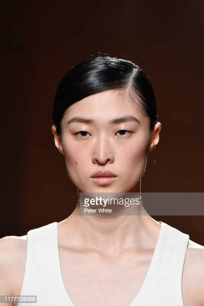 Model walks the runway during the Hermes Womenswear Spring/Summer 2020 show as part of Paris Fashion Week on September 28, 2019 in Paris, France.