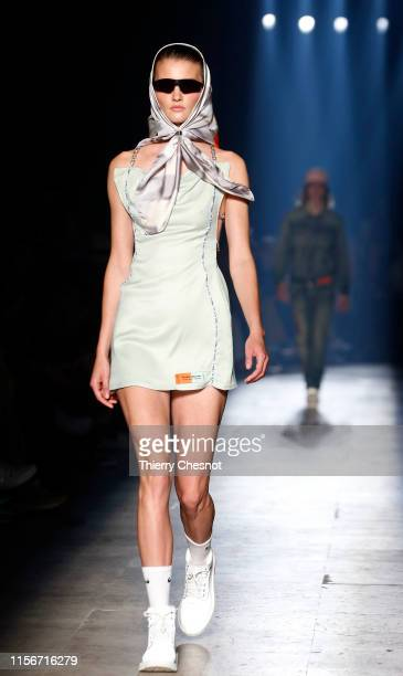 A model walks the runway during the Heron Preston Menswear Spring Summer 2020 show as part of Paris Fashion Week on June 18 2019 in Paris France