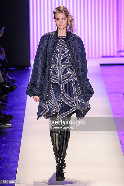5c269b9465b2 A model walks the runway during the Herve Leger by Max Azria fashion show  at The