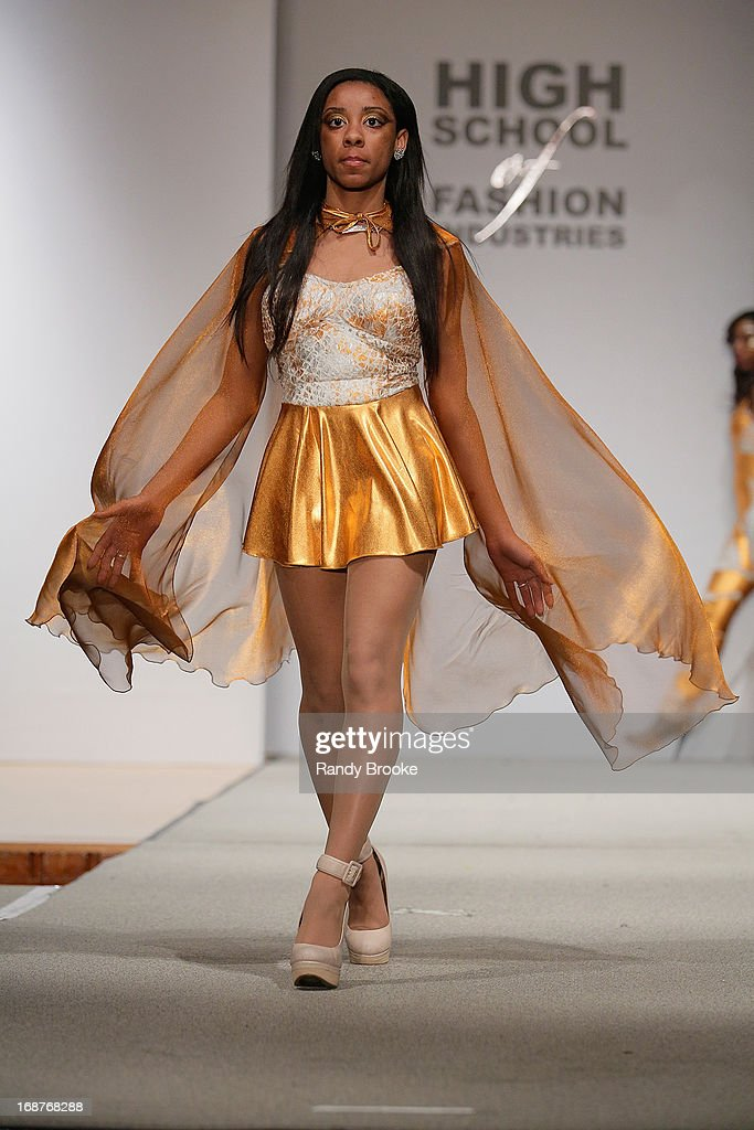A Model Walks The Runway During The High School Of Fashion Industries News Photo Getty Images
