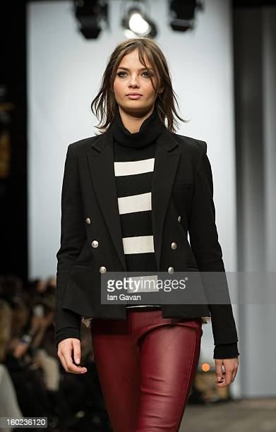 A model walks the runway during the Hunkydory show at MercedesBenz Stockholm Fashion Week A/W 13 at Berns on January 28 2013 in Stockholm Sweden