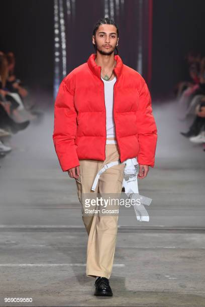 A model walks the runway during the IAMGIA show at MercedesBenz Fashion Week Resort 19 Collections at Carriageworks on May 16 2018 in Sydney Australia