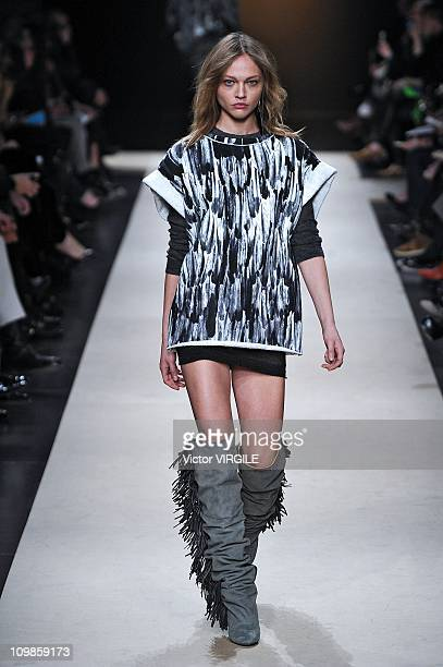 0d3f3a3e1ee A model walks the runway during the Isabel Marant Ready to Wear Fall/Winter  2011