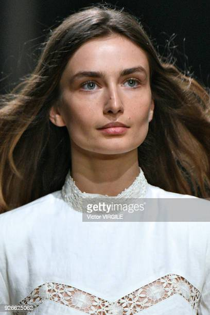 A model walks the runway during the Isabel Marant Ready to Wear Fall/Winter 20182019 fashion show as part of the Paris Fashion Week Womenswear...