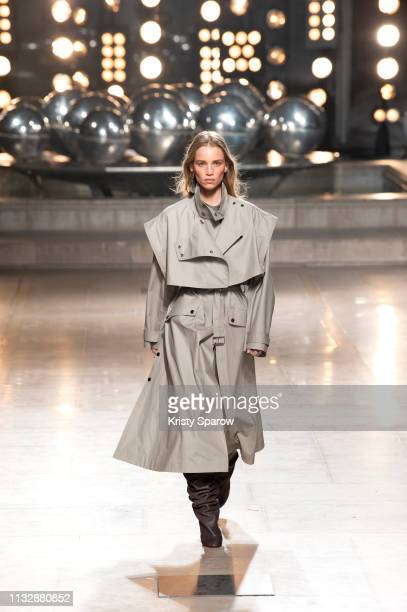 A model walks the runway during the Isabel Marant show as part of Paris Fashion Week Womenswear Fall/Winter 2019/2020 on February 28 2019 in Paris...