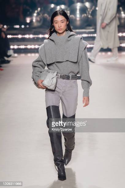 A model walks the runway during the Isabel Marant show as part of Paris Fashion Week Womenswear Fall/Winter 2020/2021 on February 27 2020 in Paris...