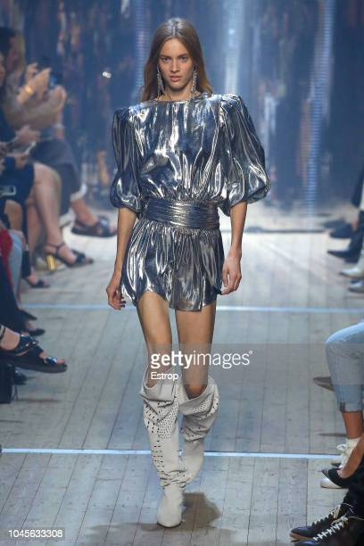 A model walks the runway during the Isabel Marant show as part of the Paris Fashion Week Womenswear Spring/Summer 2019 on September 27 2018 in Paris...
