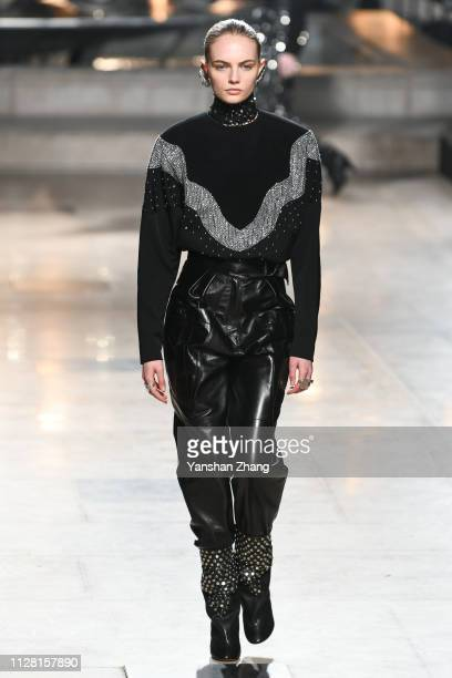 A model walks the runway during the Isabel Marant show as part of the Paris Fashion Week Womenswear Fall/Winter 2019/2020 on February 28 2019 in...