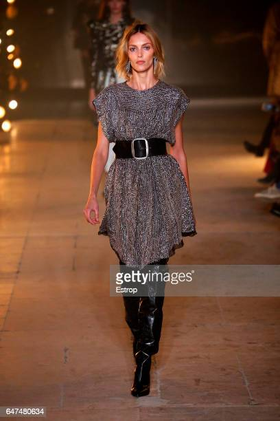 A model walks the runway during the Isabel Marant show as part of the Paris Fashion Week Womenswear Fall/Winter 2017/2018 on March 2 2017 in Paris...