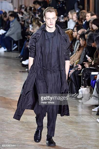 b23d7ab3ce52 ... Paris Fashion Week - Menswear F W 2017-2018. A model walks the runway  during the Issey Miyake Men Menswear Fall Winter 20172018 show