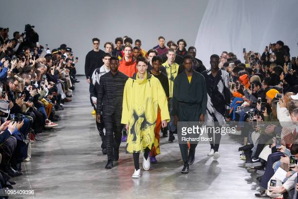 A model walks the runway during the Issey Miyake Men Menswear Fall/Winter 20192020 show as part of Paris Fashion Week on January 17 2019 in Paris...
