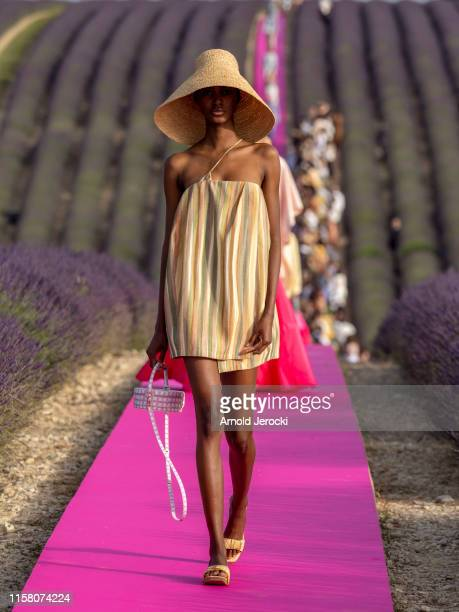 A model walks the runway during the Jacquemus Menswear Spring Summer 2020 show on June 24 2019 in Valensole France