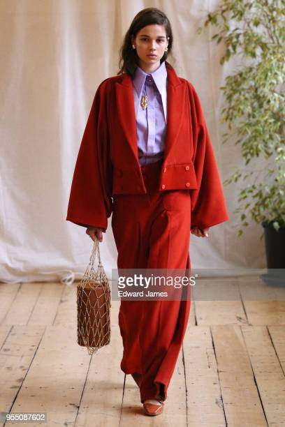 A model walks the runway during the Janashia Fall/Winter 2018/2019 Collection fashion show at MercedesBenz Fashion Week Tbilisi on May 5 2018 in...